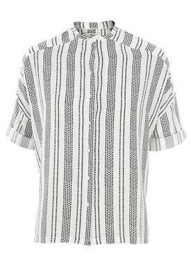 Stig P - T-shirt - Johannah - White/Black Stripe