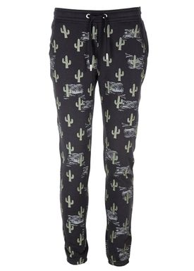 Zoe Karssen - Bukser - Straight Fit Sweatpants Castus - Pirate Black/Print