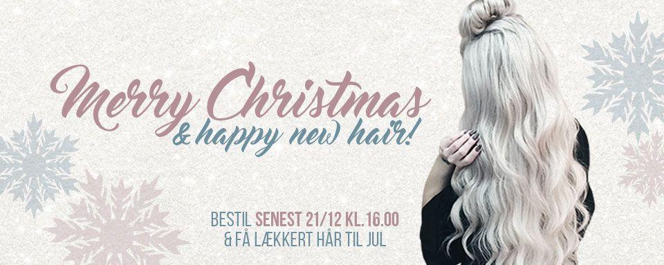 Få lækkert hår til jul med hair extensions