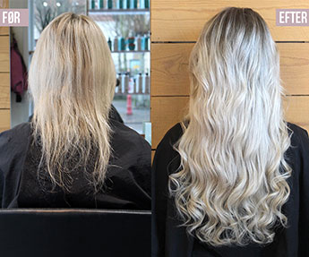Hair extension påsætning