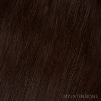 Tape baner Luksus Hair extensions Ekstra mørkbrun nr. 1B