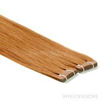 Tape baner Luksus Hair extensions Mørk kobberblond nr. 11
