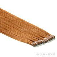 Tape baner Luksus Hair extensions Mellem kobberbrun nr. 9