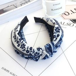Penelope hårbøjle Accessories Blue'n white flower