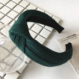 Penelope hårbøjle Accessories Green Ribbed