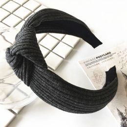 Penelope hårbøjle Accessories Dark Grey Ribbed