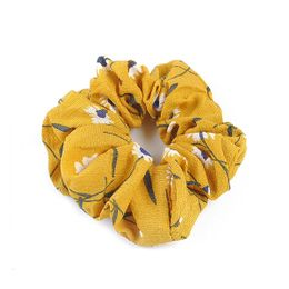 Rope Scrunchie Accessories Yellow Floral