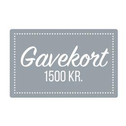 Gavekort  1500 kr