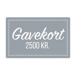 Gavekort  2500 kr