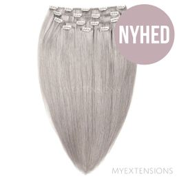 Clip on/off Original Hair extensions Grey