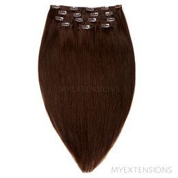 Clip on/off Original Hair extensions Mørkbrun nr. 2