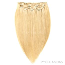 Clip on/off Original Hair extensions Gyldenblond nr. 22