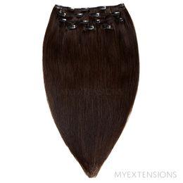 Clip on/off Original Hair extensions Ekstra mørkbrun nr. 1B