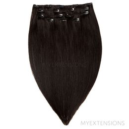 Clip on/off Original Hair extensions Sortbrun nr. 1A