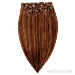 Clip on/off Original Hair extensions Mix nr. 4/7