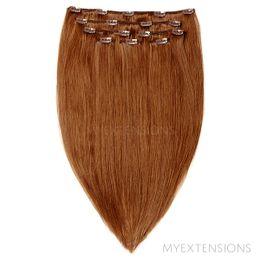 Clip on/off Original Hair extensions Lys rødbrun nr. 7