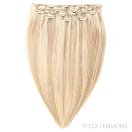 Clip on/off Original Hair extensions Mix nr. 16B/60A