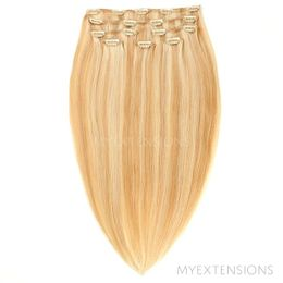 Clip on/off Original Hair extensions Mix nr. 18/613