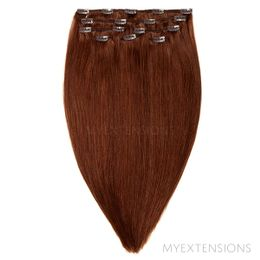Clip on/off Original Hair extensions Kastanjebrun nr. 5