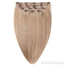 Clip on/off Original Hair extensions Mørk askblond nr. 17B