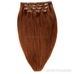 Clip on/off Original Hair extensions Rødbrun nr. 6