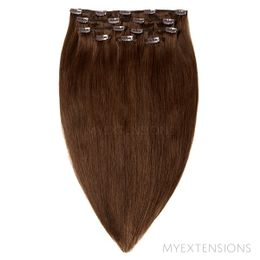 Clip on/off Original Hair extensions Mørk naturbrun nr. 3