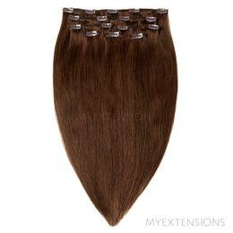 Clip on/off Original Hair extensions Mørk naturbrun nr. 3