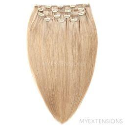Clip on/off Original Hair extensions Mørk askblond nr. 16B