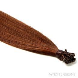 Cold Fusion Stick Luksus Hair extensions Rødbrun nr. 6