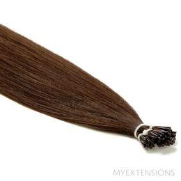 Cold Fusion Stick Luksus Hair extensions Mørk naturbrun nr. 3