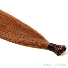 Cold Fusion Stick Luksus Hair extensions Lys rødbrun nr. 7