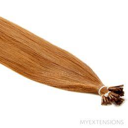 Cold Fusion Stick Luksus Hair extensions Mellem kobberbrun nr. 9