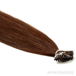 Cold Fusion Stick Luksus Hair extensions Mørk kastanjebrun nr. 4