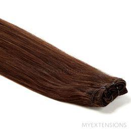 Hår trense Original Hair extensions Mørk kastanjebrun nr. 4
