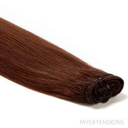 Hår trense Original Hair extensions Kastanjebrun nr. 5