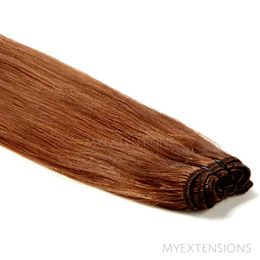 Hår trense Original Hair extensions Lys rødbrun nr. 7