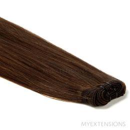 Hår trense Original Hair extensions Mørk naturbrun nr. 3