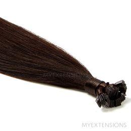Hot Fusion Luksus Hair extensions Ekstra mørkbrun nr. 1B