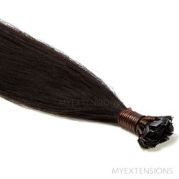 Hot Fusion Luksus Hair extensions Sortbrun nr. 1A