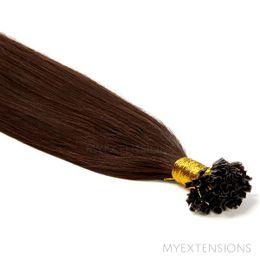 Hot fusion Original Hair extensions Mørkbrun nr. 2
