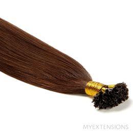 Hot fusion Original Hair extensions Mørk kastanjebrun nr. 4