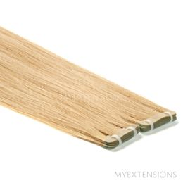 Tape baner Luksus Hair extensions Mørk beigeblond nr. 15