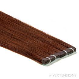 Tape baner Luksus Hair extensions Kastanjebrun nr. 5