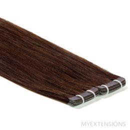 Tape baner Luksus Hair extensions Mørkbrun nr. 2