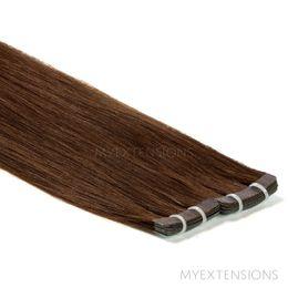 Tape baner Luksus Hair extensions Mørk naturbrun nr. 3
