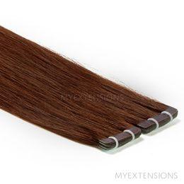 Tape baner Luksus Hair extensions Mørk kastanjebrun nr. 4