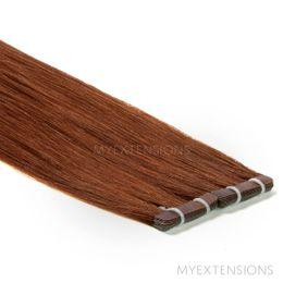 Tape baner Luksus Hair extensions Rødbrun nr. 6