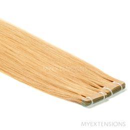 Tape baner Luksus Hair extensions Mørk rødblond nr. 14