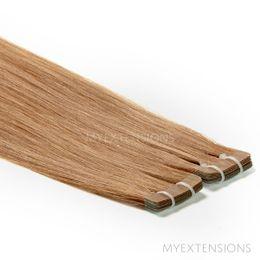 Tape baner Luksus Hair extensions Lys askbrun nr. 12B