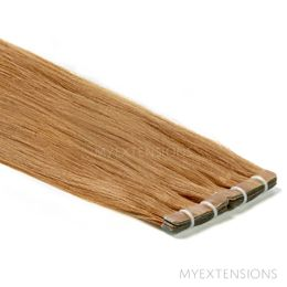 Tape baner Luksus Hair extensions Lys brun nr. 10